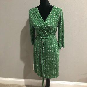 Green Blue Wrap Dress